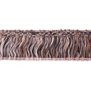 [068L-42571] [068L] Fringe Trim Wool Acrylic Multicolor (Brown)