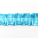 [134L-11856] [134L] Farmers Check Ribbon (Aqua)