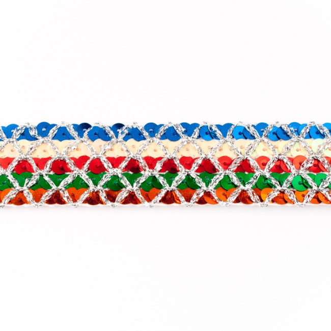 [214L] Multicolour Sequin Trim