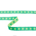 [313R-43499] [313R] Cartoon Ribbon Star 2-Coloured (Apple Green)
