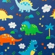 [S048R-62029] [S048R] Printed Canvas (Dino)