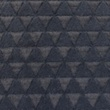 [S116R-60994] [S116R] Fur Fabric Triangle (Anthracite)