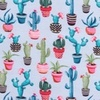 [S317R-62435] [S317R] Digital Printing Cactus (Light Blue)