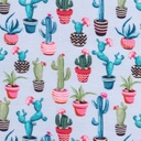 [S317L-62435] [S317L] Digital Printing Cactus (Light Blue)