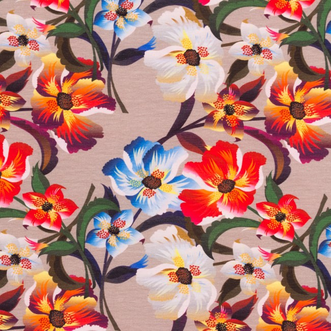 [S325R] Digital Printing Stylish Flowers