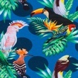 [S370R-62830] [S370R] Digital Printing Tropical Birds (Jeans)