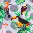 [S370R-62831] [S370R] Digital Printing Tropical Birds (Light Grey)