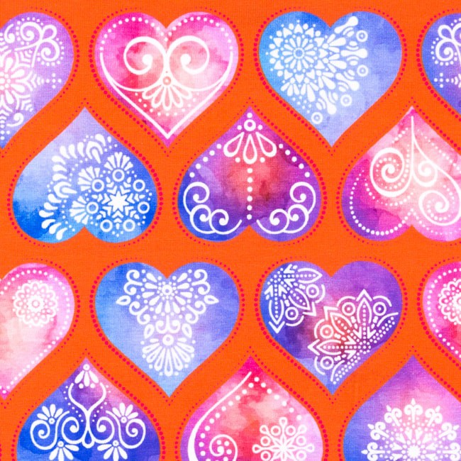 [S383L] Digital Printing Ornament Hearts
