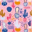 [S417L-63158] [S417L] Jersey Printed Cacti (Pink)