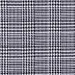 [S556R-64010] [S556R] Check Coat Fabric Black White Pied De Poule (Square)