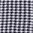 [S556R-64011] [S556R] Check Coat Fabric Black White Pied De Poule (Big)