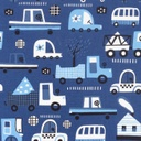 [S592L-64263] [S592L] Jersey Printed Transport  (Blue)