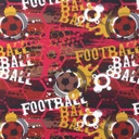 [S594R-64271] [S594R] Jersey Printed Football (Red)