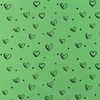 [S799L-65132] [S799L] Jersey Printed Ink Hearts (Green)