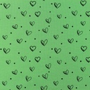 [S799R-65132] [S799R] Jersey Printed Ink Hearts (Green)