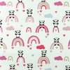 [S883R-181144] [S883R] Silicone Poplin Panda (Old Pink)