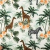 [S935R-181621] [S935R] Double Gauze Cotton Digital Printed Mix 1 (Jungle)