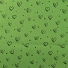 [S914R-181053] [S914R] Poplin Printed Ink Hearts (Green)