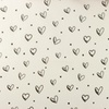 [S914R-181055] [S914R] Poplin Printed Ink Hearts (White)