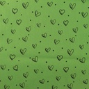 [S914L-181053] [S914L] Poplin Printed Ink Hearts (Green)