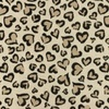 [S952R-182318] [S952R] Double Gauze Cotton Panther Hearts (Sand)