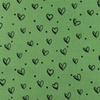 [S948R-182278] [S948R] Double Gauze Cotton Ink Hearts (Green)