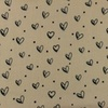 [S948R-1822782] [S948R] Double Gauze Cotton Ink Hearts (Sand)