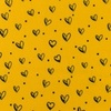 [S948R-182279] [S948R] Double Gauze Cotton Ink Hearts (Ochre)