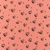 [S948R-182281] [S948R] Double Gauze Cotton Ink Hearts (Pink)