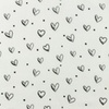 [S948R-182283] [S948R] Double Gauze Cotton Ink Hearts (White)
