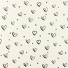 [S948L-182280] [S948L] Double Gauze Cotton Ink Hearts (Offwhite)