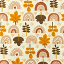 [S956L-182506] [S956L] Jersey Printed Arches And Leaves (Choco)