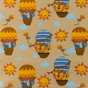 [S957L-182515] [S957L] Jersey Printed Air Balloon (Blue)