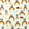 [S962R-182569] [S962R] Double Gauze Cotton Crinkled Panda (Ochre)