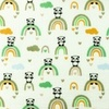 [S962R-182570] [S962R] Double Gauze Cotton Crinkled Panda (Old Green)