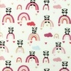 [S962R-182571] [S962R] Double Gauze Cotton Crinkled Panda (Old Pink)