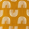 [S976R-182669] [S976R] Jersey Printed Bow With Stripes (Ochre)