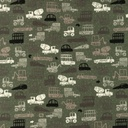 [S987R-182784] [S987R] Jersey Printed Construction Vehicles (Dark Army)