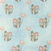 [S988R-182790] [S988R] Jersey Digital Printed Jeans Melange Mouse With Hearts (Light Blue)