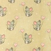 [S988R-182792] [S988R] Jersey Digital Printed Jeans Melange Mouse With Hearts (Sand)