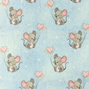 [S988L-182790] [S988L] Jersey Digital Printed Jeans Melange Mouse With Hearts (Light Blue)