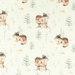 [S1001L-184381] [S1001L] Jersey Digital Printed Mix Beli (Little Animals)