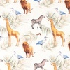 [S996R-184357] [S996R] Jersey Digital Printed Mix Mira (Animals)
