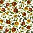 [S1019R-183061] [S1019R] Poplin Digital Printed Mix 12 (Flowers)