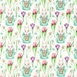 [S1027R-183015] [S1027R] Poplin Digital Printed Mix 20 (Rabbit)
