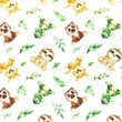 [S1043L-182998] [S1043L] Poplin Digital Printed Mix 31 Snoozy (Little Animals)