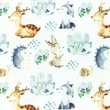 [S1043L-183033] [S1043L] Poplin Digital Printed Mix 31 Snoozy (Rabbit)