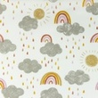 [S1056R-183474] [S1056R] Poplin Printed Rainbow Clouds Snoozy (Old Pink)