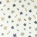 [S1062L-183817] [S1062L] Double Gauze Cotton Flowers Snoozy (Old Blue)