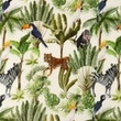 [S1082L-183144] [S1082L] Double Gauze Crinkled Digital Printed Mix 17 (Jungle)
